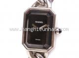 Đồng hồ Chanel màu đen bạc