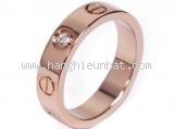 S Nhẫn Cartier kim cương  K18PG 1P