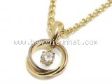SA Vòng cổ Cartier Trinity kim cương K18YG