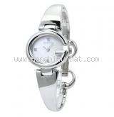 Đồng hồ Gucci YA134 kim cương 3 P trắng bạc