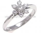 Nhẫn Tiffany&Co kim cương PT900 bông hoa size 13
