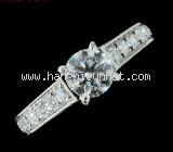Nhẫn kim cương Cartier 0.50ct size 48