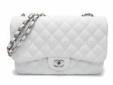 Túi xách Chanel classic trắng jumbo