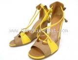 S dép cao gót Hermes size 35 màu vàng