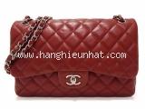 Túi xách Chanel lambskin màu đỏ jumbo