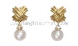NEW Bông tai Tiffany&Co kim cương ngọc K18