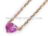 Vòng cổ Cartier hình trái tim màu hồng