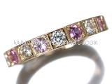 MS3515 Nhẫn Cartier kim cương rubi size 52