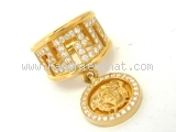 SA Nhẵn Gianni Versace Kim cương Vàng K18YG