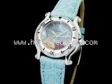 Đồng hồ Chopard happy fish dây da xanh