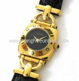 Đồng hồ Gucci 6300L dây da đen