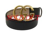 NEW Thắt lưng Gucci size 95 A7M0T khóa vàng