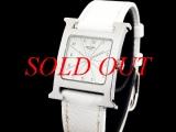 Đồng hồ Hermes nữ dây da trắng