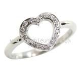 SA Nhẫn Tiffany&Co Kim cương Pt950 hình trái tim