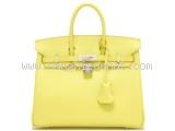 Túi Hermes birkin 25 màu vàng
