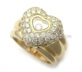 Nhẫn kim cương Chopard happy diamond