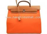 SA Túi Hermes Herbag Yale PM màu nâu cam
