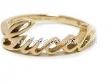 MS3907 Nhẫn Gucci logo vàng vàng