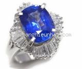 Nhẫn saphia xanh 5.96ct