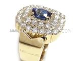 Nhẫn kim cương saphia xanh 1.77ct