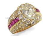 Nhẫn kim cương 1.097ct