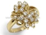 SA Nhẫn vàng K18YG kim cương 0.70 ct