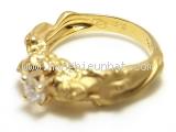 SA Nhẫn vàng K18YG kim cương 0.313ct  size 11
