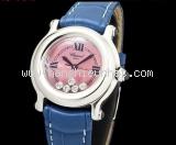 Đồng hồ Chopard kim cương 5P dây da xanh