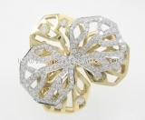 Nhẫn kim cương Cartier hình hoa