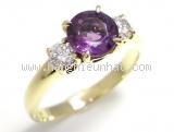 Nhẫn Tiffany&Co kim cương 2P K18YG đá tím size 10