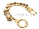 Móc chìa khóa Louis Vuitton vàng nâu M65386