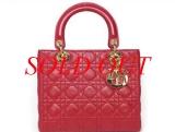 Túi xách Dior lady dior đỏ