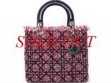 S Túi xách Christian Dior lady đen đỏ