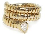 NS Nhẫn Bvlgari vàng K18YG kim cương