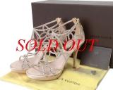 Sandal Louis VUitton size 37 hồng