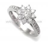 Nhẫn Tiffany&Co bông hoa size 7