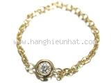 Nhẫn Dior vàng hình dây