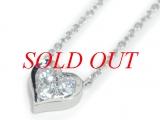 Vòng cổ Tiffany&Co kim cương Pt950 hình trái tim