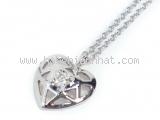 S Vòng cổ Tiffany&Co kim cương 1P K18WG trái tim