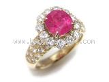 Nhẫn kim cương rubi 2.749ct
