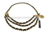 Thắt lưng Chanel 3 dây xích vàng