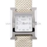 Đồng hồ Hermes dây da kem nâu