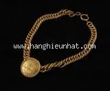 MS1171 Vòng cổ Chanel màu vàng logo tròn