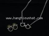 MS2082 Set bông tai và vòng cổ salvatore Ferragamo màu bạc -MS2082-Set-bong-tai-va-vong-co-salvatore-Ferragamo-mau-bac