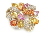 Nhẫn kim cương saphia màu 9.37ct