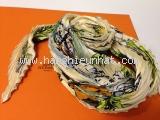 MS1945 Khăn Hermes silk xoăn màu xanh OFF20