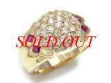 Nhẫn vàng K18YG kim cương 1.03ct size 13.5