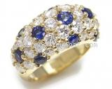 Nhẫn Tiffany saphia xanh