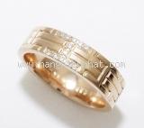 Nhẫn Hermes diamond vàng hồng size 8.5