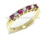 Nhẫn Tiffany&Co kim cương K18YG rubi